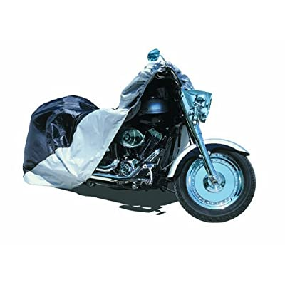 Raider Black and Silver X-Large Motorcycle Cover