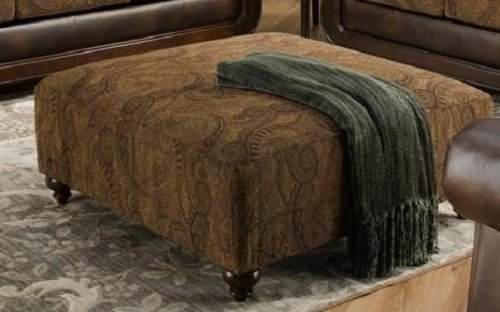 Chelsea Home Furniture Oneida Ottoman, Isle Tobacco/Kiser Cappuccino by Chelsea Home Furniture