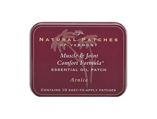 Natural Patches Of Vermont Arnica Muscle & Joint Comfort Essential Oil Body Patch, 10-Count Tin (Comfort Body Oil)