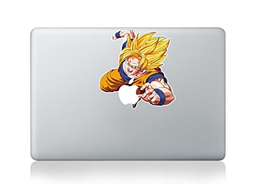 "Crisp Decals Goku Apple Macbook Vinyl Skin Sticker Decal for Retina/Air/Pro 13"""