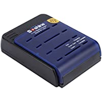 YKS 4-Slots Smart Battery Charger with Car Charger For 1-4pcs 17500/17650/18500/18650/18670 Li-ion battery