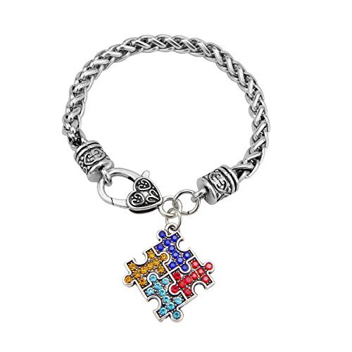 Awareness Crystal Charm Bracelet ()
