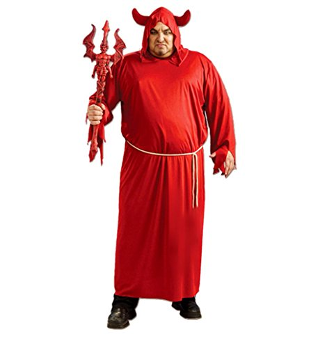 [Adult Red Devil Suit Halloween Party COS Ghost Zombie Clothing Vampire Costume] (Red Devil Outfit)