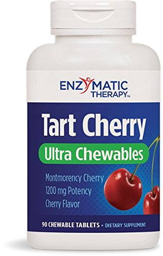 Tart Cherry Ultra Chewable, 90 chew tabs by Enzymatic Therapy (Pack of 6) by Enzymatic Therapy
