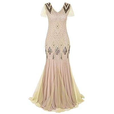 Party Dress Women Vintage 1920s Bead Fringe Sequin Lace Party Flapper Cocktail Prom Tutu Dress