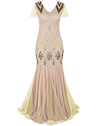 cbfb9b736c Sequin Dress Dress Retro Banquet Wedding Dress Hepburn Dress Size S-2XL