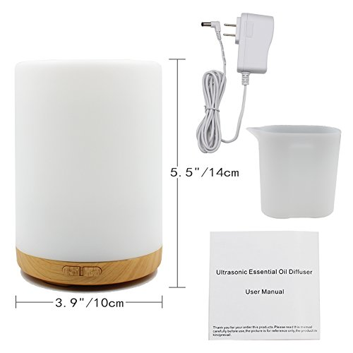 200ML Essential Oil Diffuser -Glowseen Aromatherapy Ultrasonic Cool Mist Humidifier with Colorful LED light Auto Shut-Off for Spa ,Home ,Kitchen and Office by GS GLOWSEEN (Image #2)