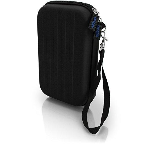 igadgitz Schwarz EVA Hart Tasche Schutzhülle fur Neu Nintendo 3DS 2015 Etui Case Cover mit Tragegurt