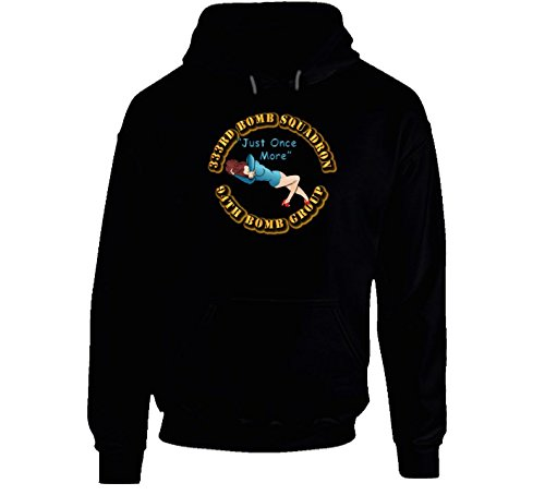 LARGE - AAC - 333rd Bomb Squadron - 94BG - Just Once More Hoodie - Black (Operation Storm 333)
