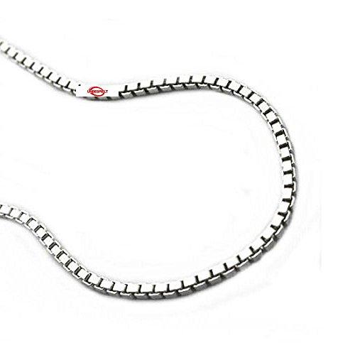Collier de chaîne délicate chaîne vénitienne en argent 925 pendentif longueur de chaîne 60 cm Largeur 1 mm