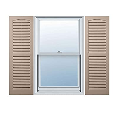Alpha VNB1531SAOL 14-Inch by 31-Inch Open Louver, Sandstone, 2-Pack