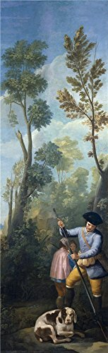 [The High Quality Polyster Canvas Of Oil Painting 'Goya Y Lucientes Francisco De A Hunter Loading His Shotgun 1775 ' ,size: 18 X 59 Inch / 46 X 150 Cm ,this Amazing Art Decorative Prints On Canvas Is Fit For Powder Room Decoration And Home Decor And] (Grady Twins Costume)