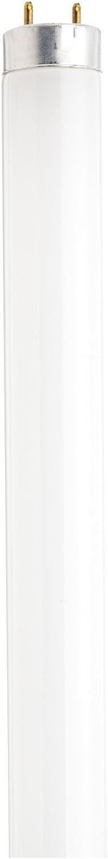 Satco S8404 24-Inch 3000K 17-Watt Medium Bi Pin T8 Instant/Rapid Start Energy Saving Lamp, Warm White