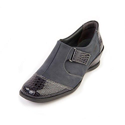 Piel mujer Suave Otra de cordones Zapatos Croc Navy para de RTROXF