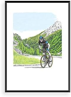 Forma y gloria Chris Froome escalada Poster, color , tamaño ...