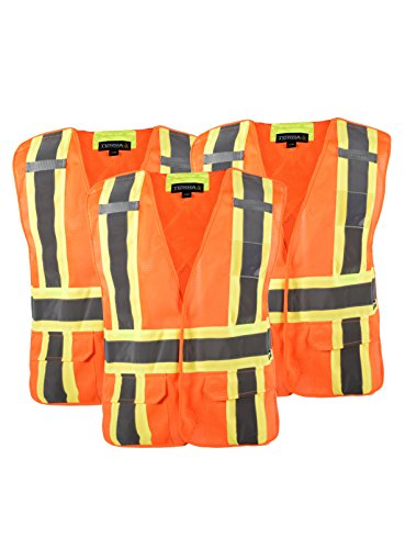 Safety Away Tear Vest (Terra 116523ORLXL/3 11-6523-Orlxl/3 High-Visibility 5 Point Tear Away Reflective Safety Vest, Large/Xl, Large/X-Large, Orange)