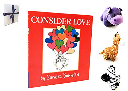 Gift Ideas for 2 Year Old - Perfect Gift Set Idea for 2 Year Old Girl or Boy with Consider Love book by Sandra Boynton & 3 Plush Animals - Gift for baby, toddler, 3 year old - Already Wrapped (Boynton Stuffed Animals)