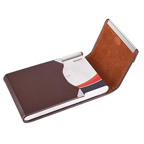 da9c3ac4e49d MaxGear PU Leather Business Card Holder Name Card Holder Case Credit ...