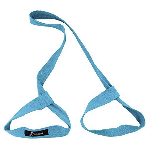 ProSource Yoga Mat Carrying Sling, Easy Adjustable Carry Strap 152cm Long Cotton (Aqua)