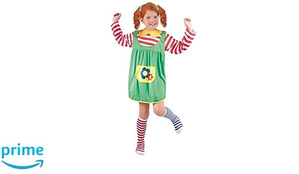 FIORI PAOLO - Disfraz de niña Pippi Calzaslargas L (7-9 anni ...