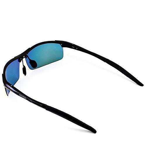 8a61578426 Ronsou Men Sport Al-Mg Polarized Sunglasses Unbreakable For Driving ...
