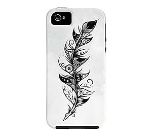 Feather iPhone 5/5s Heather Grey Tough Phone Case - Design By Humans wangjiang maoyi