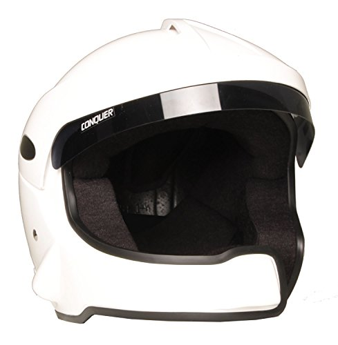 Conquer Snell SA2015 Approved Open Face Rally Racing Helmet OF RALLY ()