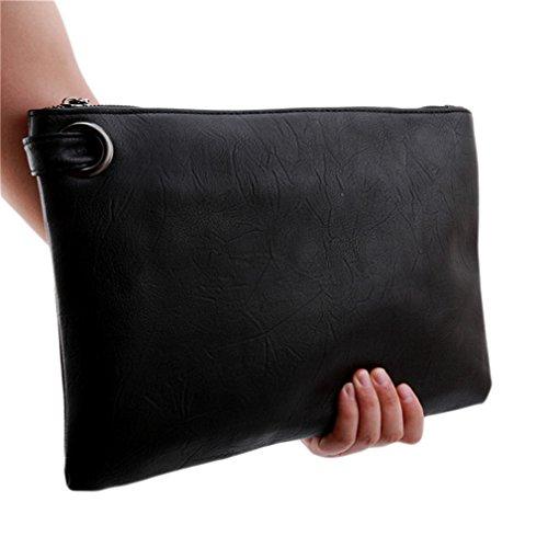 Lalang Women Purse Large Clutch Bag Evening Handbag black Wristlet rAqrxwf