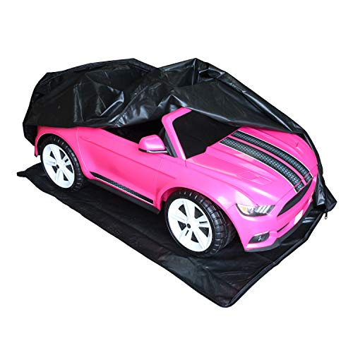 Emmzoe Heavy Duty Ride-On Car Cover for Kids Electric Vehicles Outdoor Weatherproof Full Protection - Universal Fit, Waterproof UV Rain Snow Protection