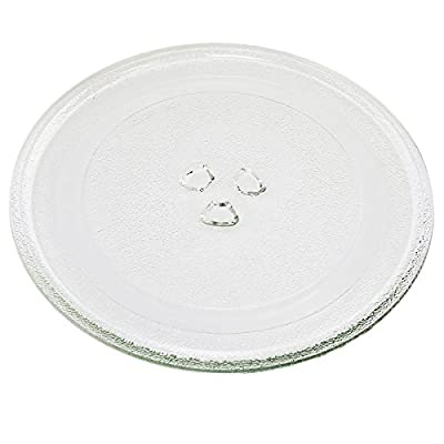 "First4Spares Universal Replacement Glass 3 Fixing Turntable Plate for Microwave Ovens - 245mm (9 1/2"")"