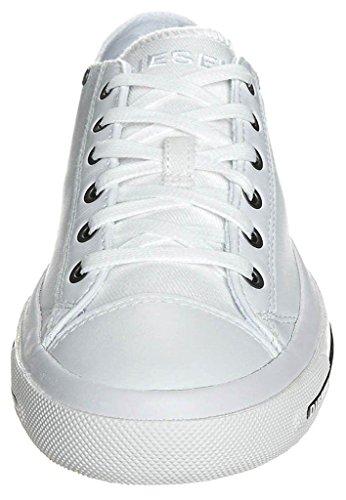 Diesel Exposure iv Blanco Negro Nuevas MujeresCuero Lo Sneakers Zapatos Botas