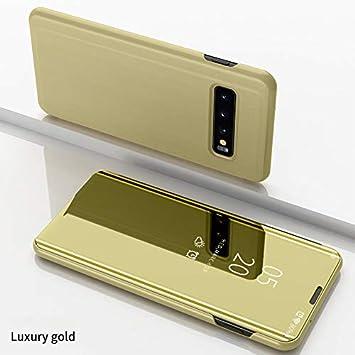 COVO® Funda Samsung Galaxy S10 Plus,Fundas de Espejo Elegante Carcasa de Función Inteligente para Dormir/Despertar,Vista Inteligente Cover Carcasa ...