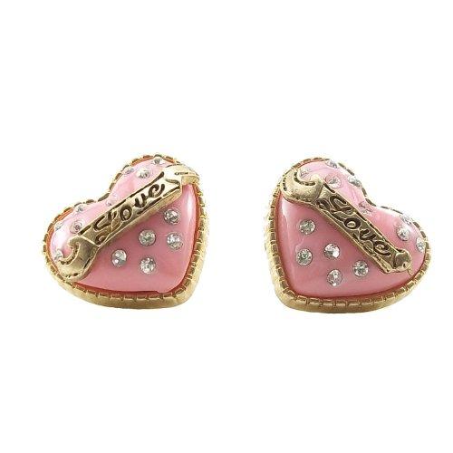 DaisyJewel Cake Heart Pink Love Earrings