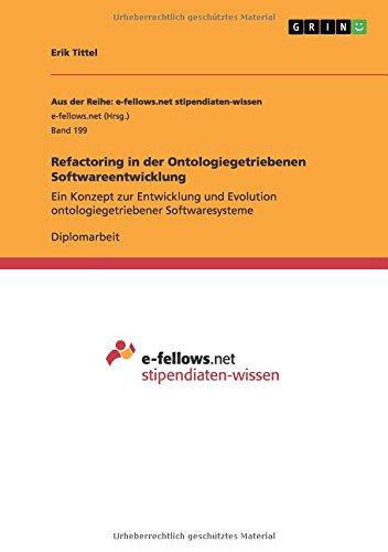 Read Online Refactoring in der Ontologiegetriebenen Softwareentwicklung (German Edition) pdf