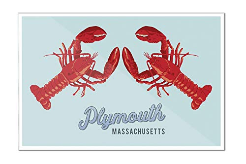 Plymouth, Massachusetts - Lobsters (18x12 Acrylic Wall Art Gallery - Hanging Lantern Plymouth