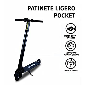 PATINETE ELÉCTRICO POCKET PLUS NEGRO | SABWAY: Amazon.es ...