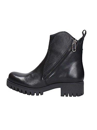 CAF NOIR FC116 t. dunkle Schuhe Frau Boot-Stummel Doppelreißverschluss Marrone