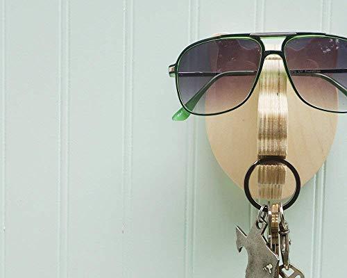 Bear head wall hanger for keys & glasses - next-to-door organizer for keys, glasses, sunglasses