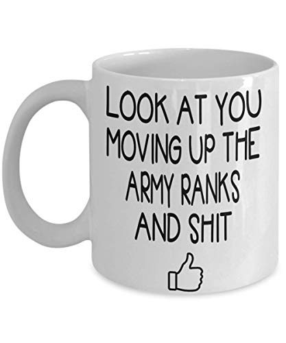 Funny Gift Family - Army promotion Coffee Mug - Gift Idea For Him Her Women, Men Promoted Army, Soldier Military Promotion Gift, Promoted Soldier Tea