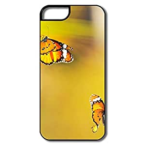 IPhone 5 5S Covers, Two Butterflies Went Out Noon White/black Cases For IPhone 5