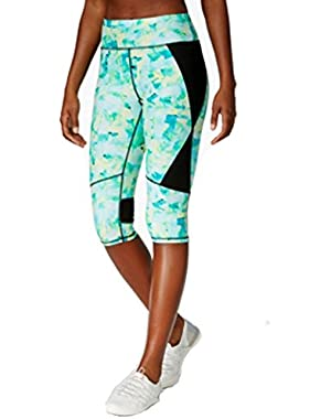 Calvin Klein Performance Printed Capri Leggings Green 2XL
