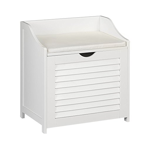 Household Essentials Single Load Hamper Cabinet Seat Bench Hamper