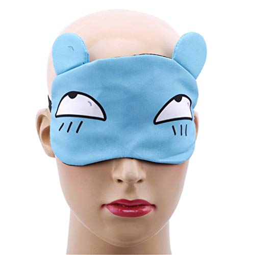 LZIYAN Sleep Masks Cartoon Sleep Eye Mask Soft Cute Eyeshade Eyepatch Travel Sleeping Blindfold Nap Cover,Blue by LZIYAN (Image #3)