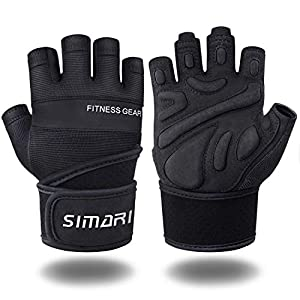 SIMARI Workout Gloves Mens and Women Weight Lifting Gloves with Wrist Support for Gym Training, Full Palm Protection for…