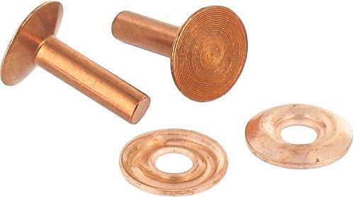 Rivet cuivre rouge t/ête frais/ée large 135/° /à contre rivure Rivet 3 mm Diam/ètre T/ête 9 mm CR-3 Longueur 16 mm Vendu par 100