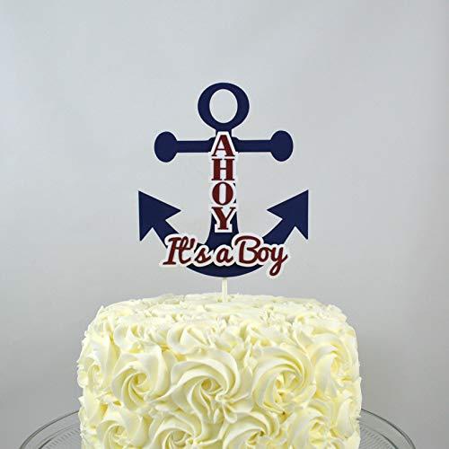 Nautical Baby Shower Sailor Theme Ahoy It S A Boy Anchor Baby