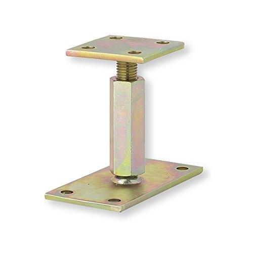 Pied de poteau réglable hauteur H110/180mm universel galvanisé Sud Bois