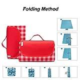LEASEN Picnic Blanket Waterproof, 79''×77'' Extra