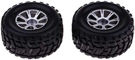 Hellery WLtoys A949 A969 A979 K929と互換性のある2つのゴム製タイヤおよびリム車両アクセサリのパ