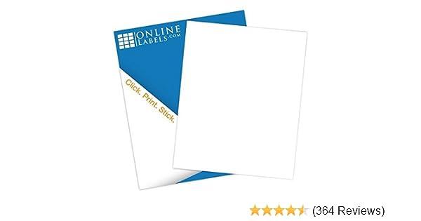 amazon com online labels sticker paper 100 sheets white
